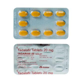Tadalafil (Tadarise, Generic Cialis, Tadalis, Apcalis, Vidalista)