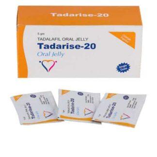 Tadalafil gel (Tadarise-20 oral gelé, Generisk Cialis, Tadalis, Apcalis)