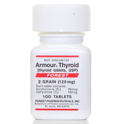 Armour Thyroid (levothyroxine (T4) + liothyronine (T3))